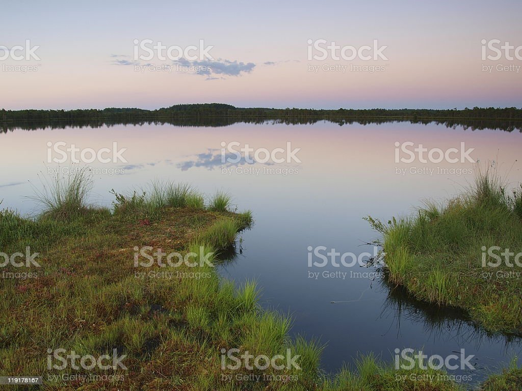 Lake Kakerdaja, dawn stock photo