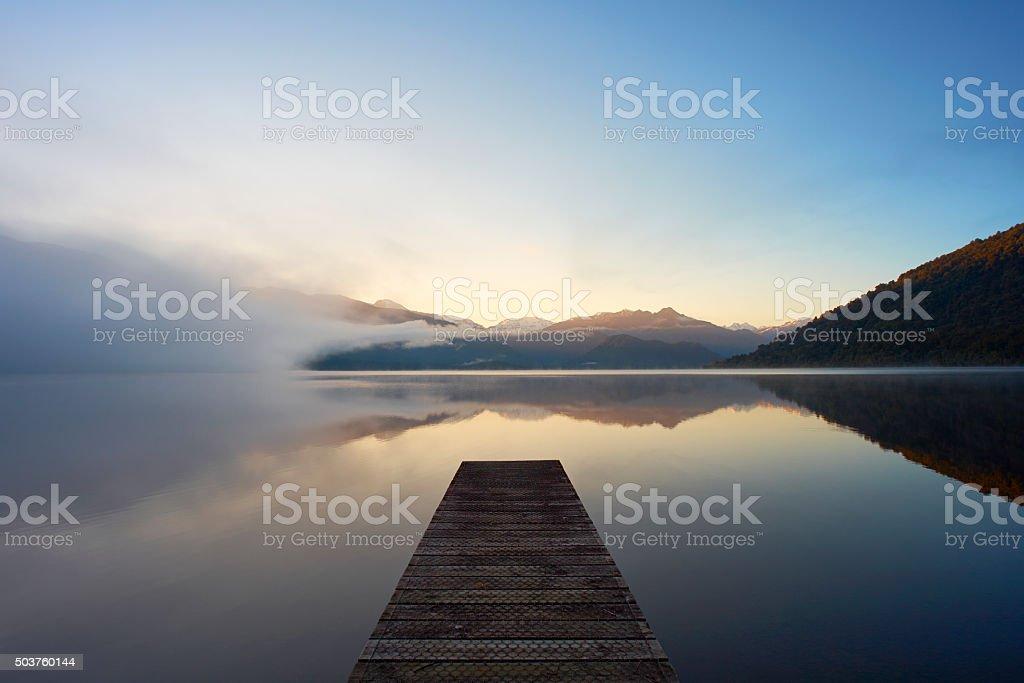 Lake Kaniere On New Zealand's South Island stock photo