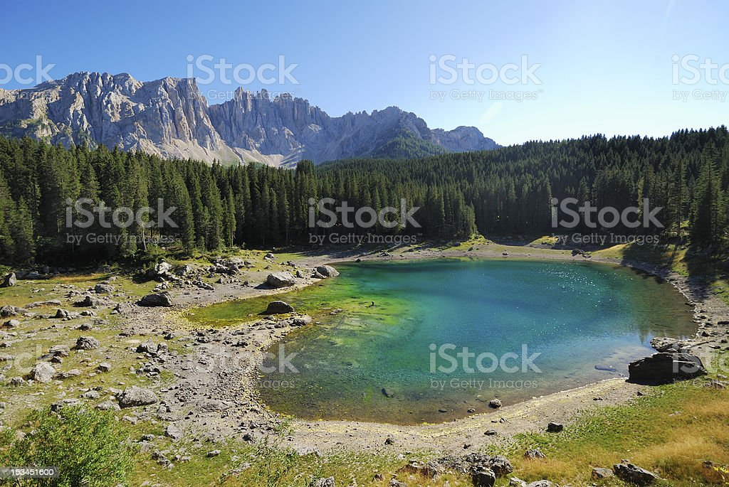 Lake Karrersee royalty-free stock photo