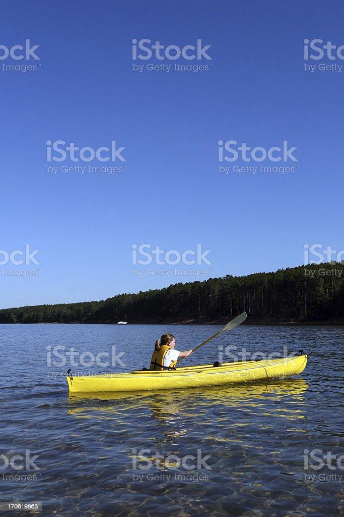 Lake Kayaking royalty-free stock photo