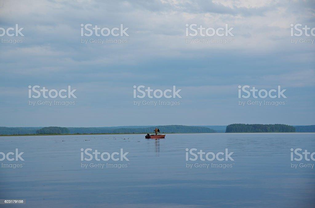 Lake Kenozero stock photo