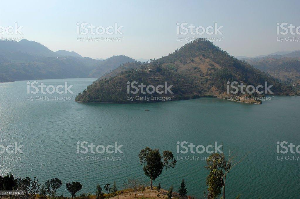 Lake Kivu on Rwandan side near Kibuye stock photo