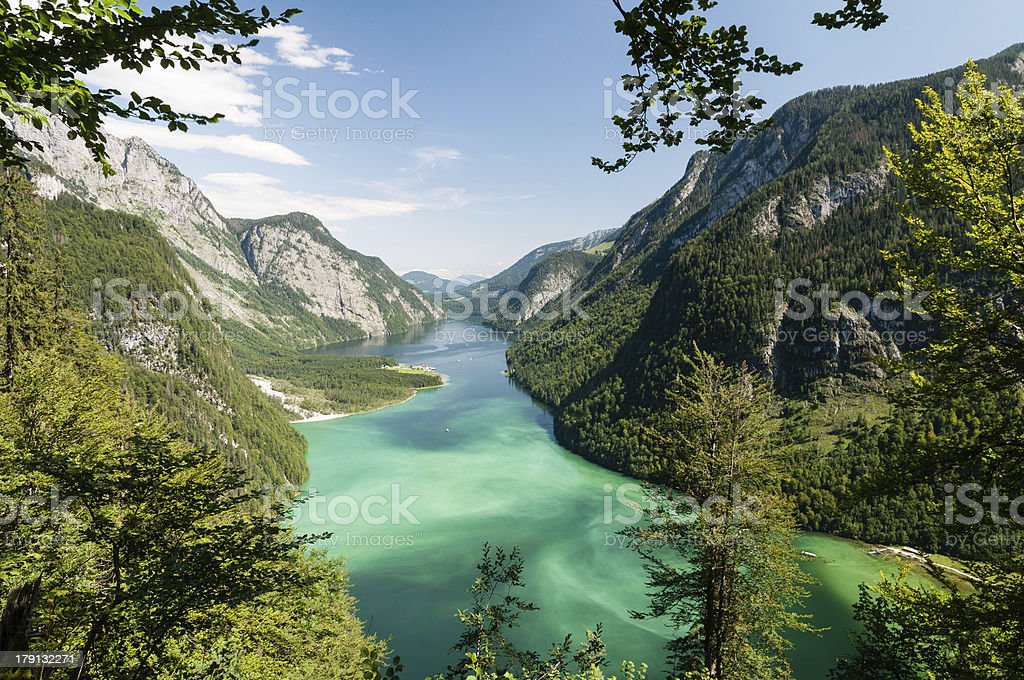Lake Königssee stock photo