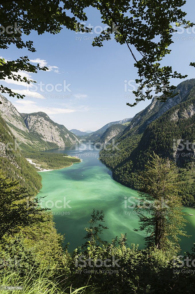 Lake Königssee stock photo
