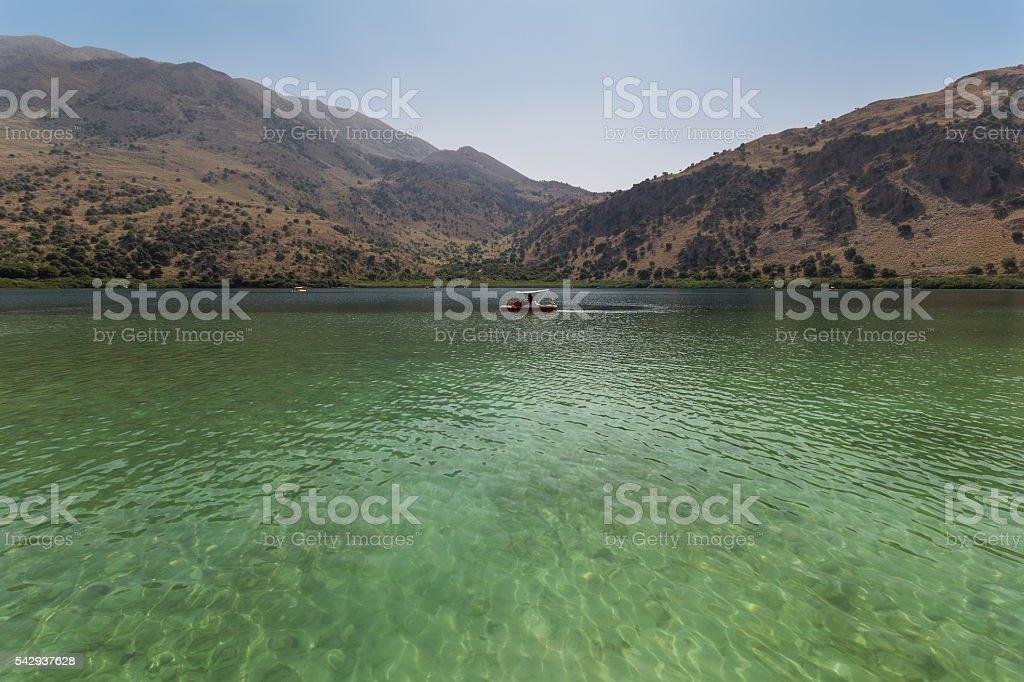 Lake Kourna Crete stock photo