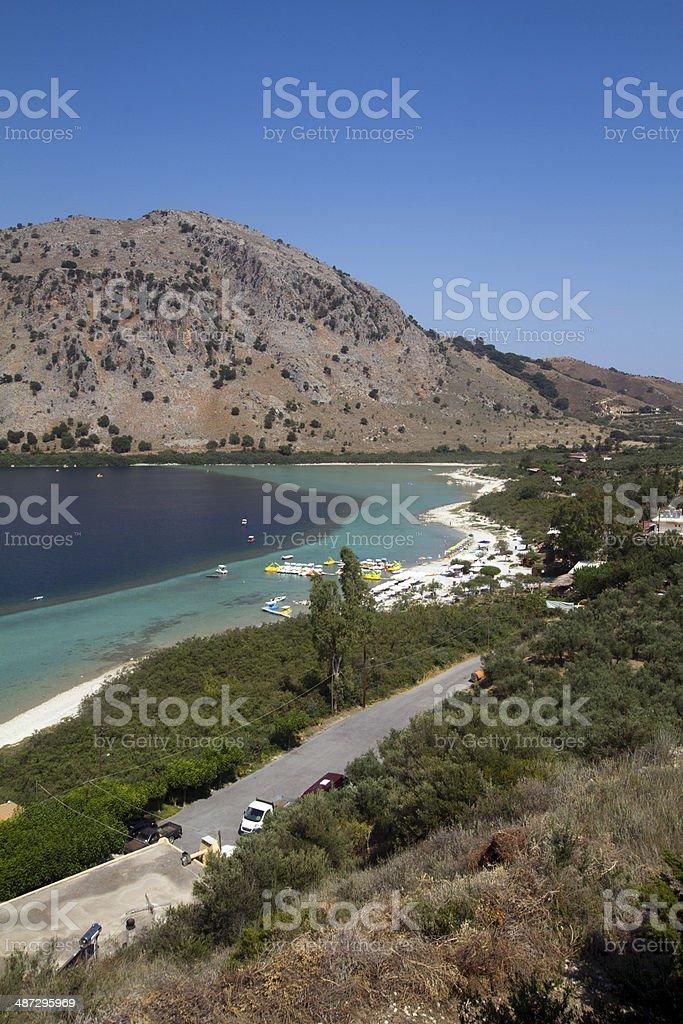 lake Kournas in Crete stock photo