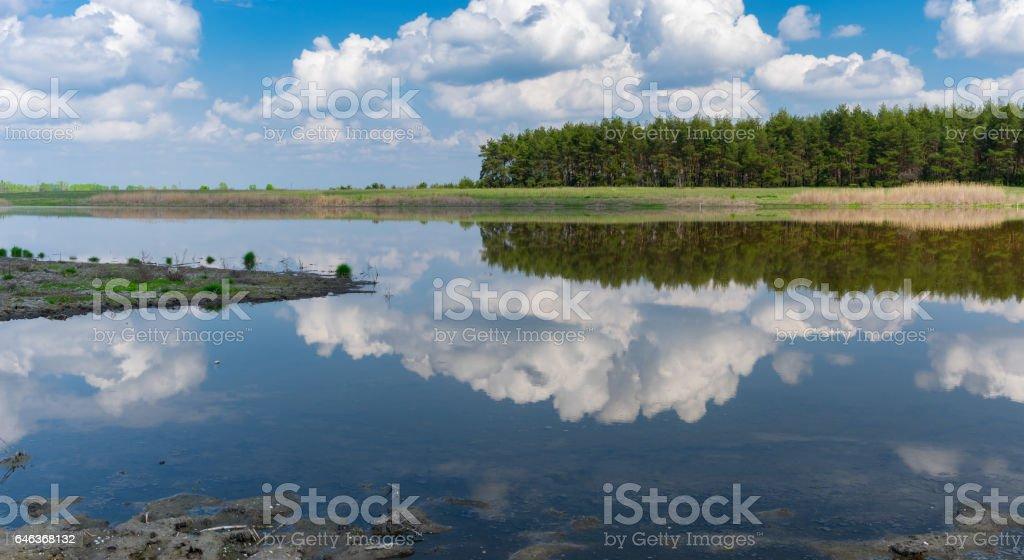 Lake Kozachy Liman in Chernetchina village, Ukraine stock photo