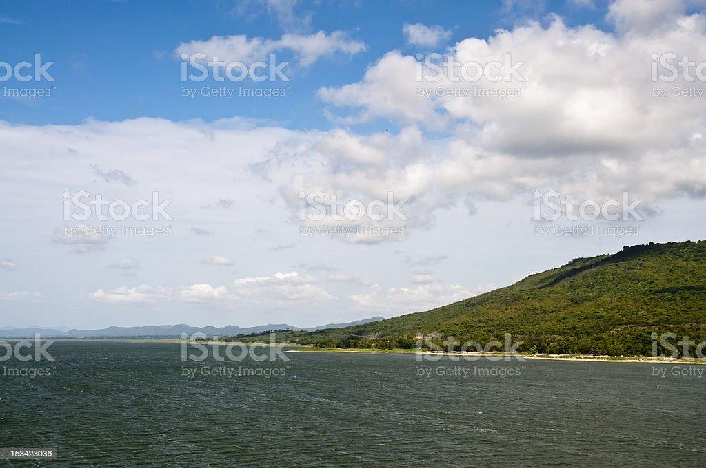 Lake Lam Takhong dam zbiór zdjęć royalty-free
