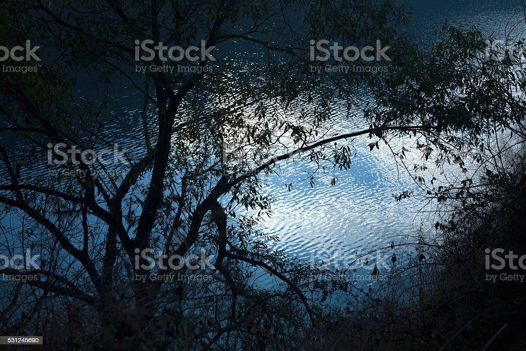 lake landscape in the morning stock photo