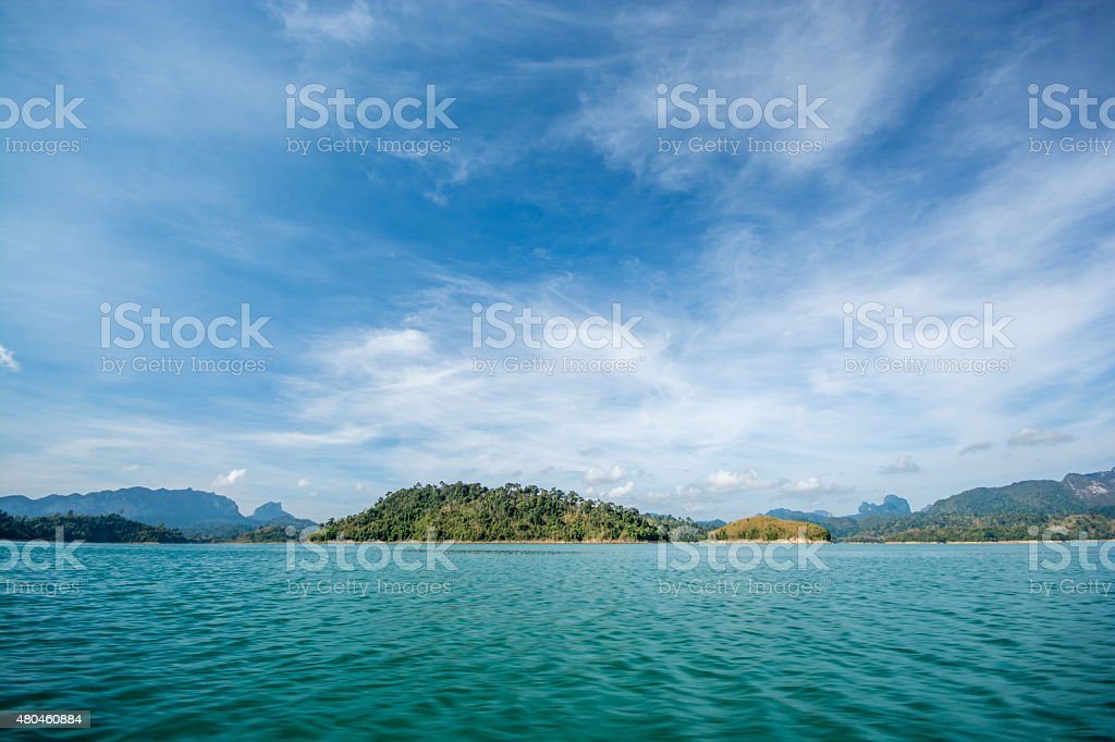 lake landscape stock photo