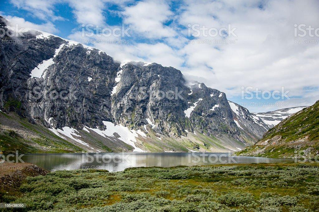 Lake Langvatnet near Geiranger Fjorde, Norway stock photo