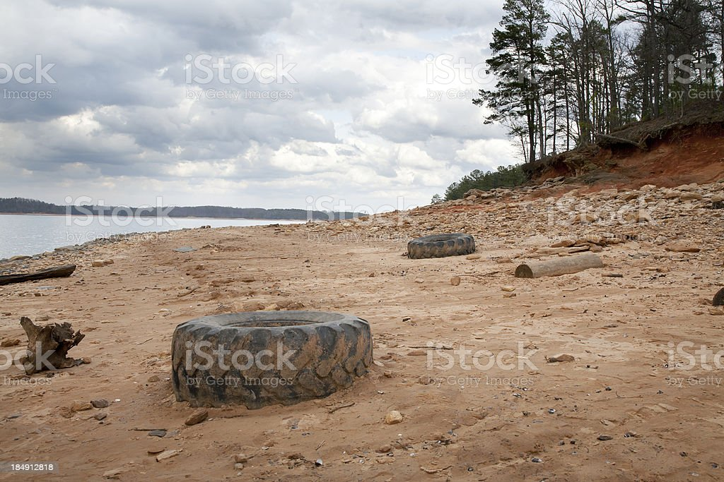Lake Lanier During a Drought stock photo