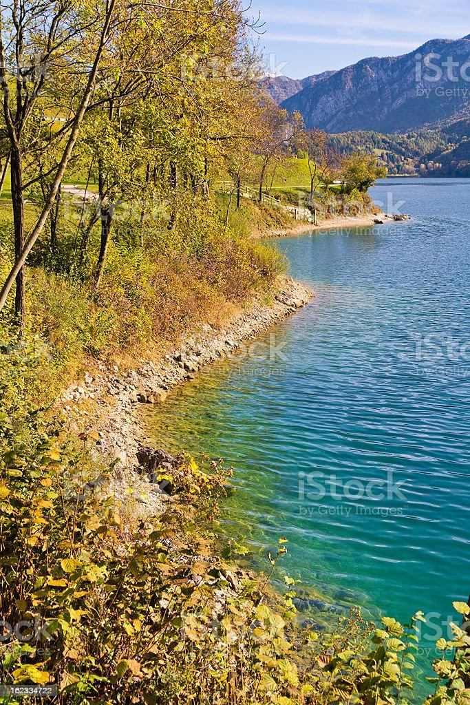 Lake Ledro In Autumn stock photo