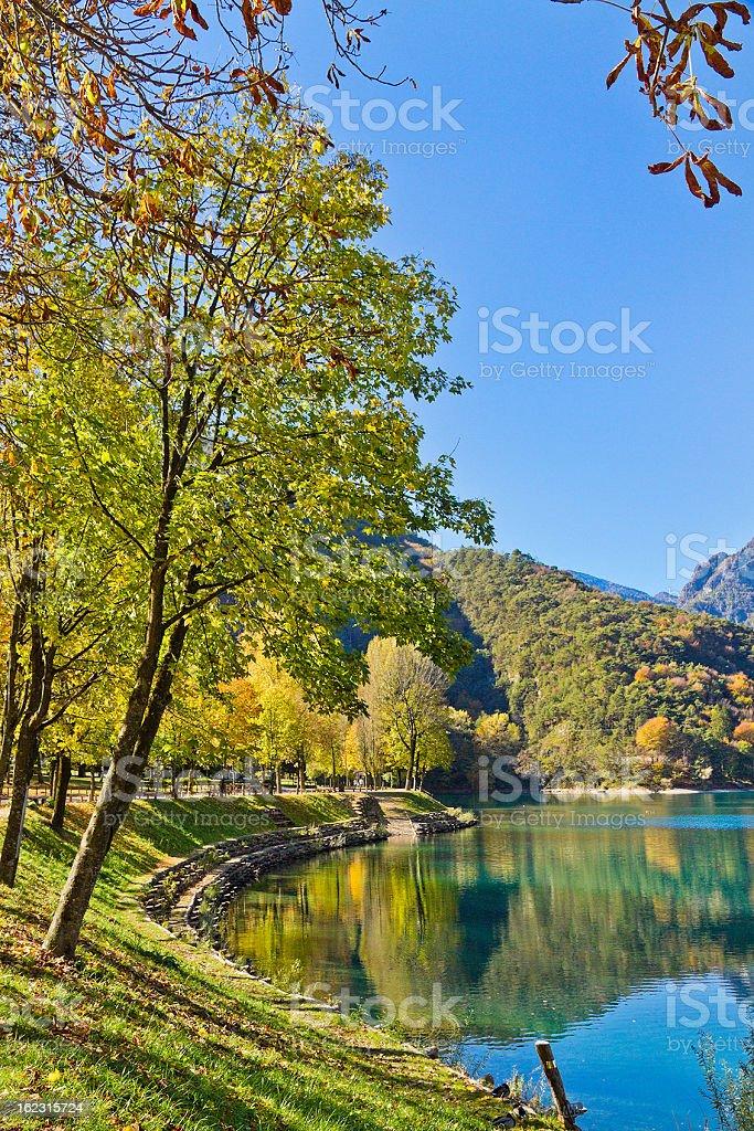 Lake Ledro, Italy stock photo