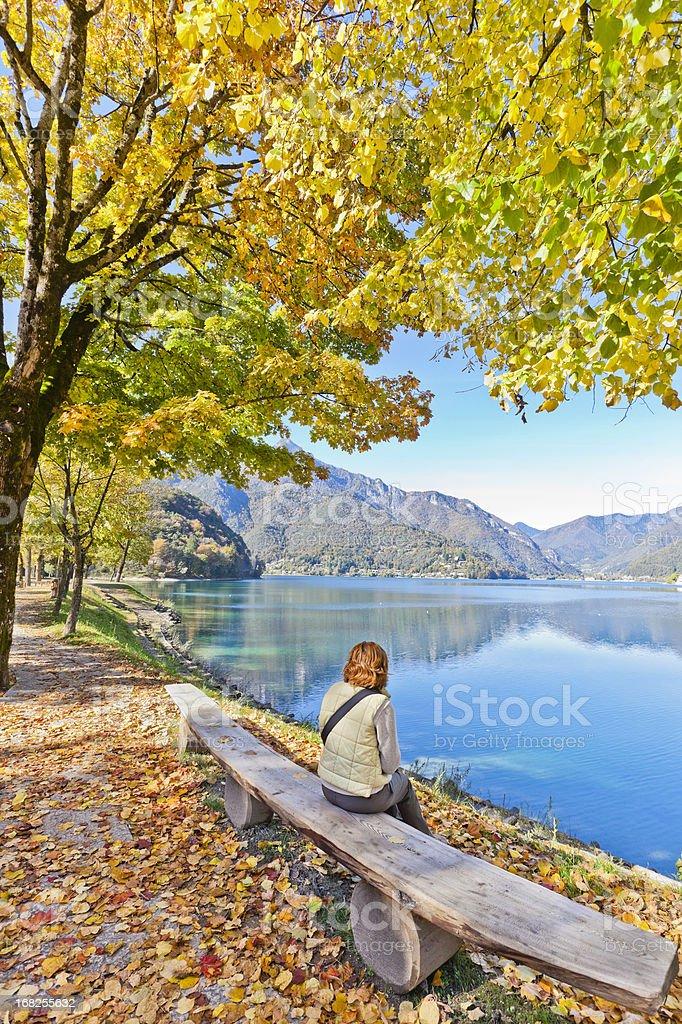 Lake Ledro Shores stock photo