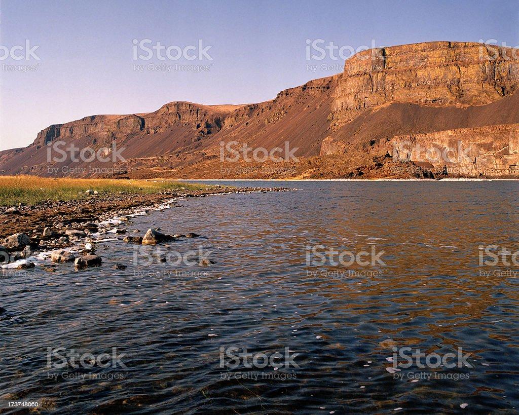 Lake Lenore, Grand Coulee, Washington, United States stock photo