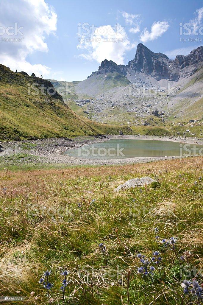 Lac de Lhurs, Pyrenees, France stock photo