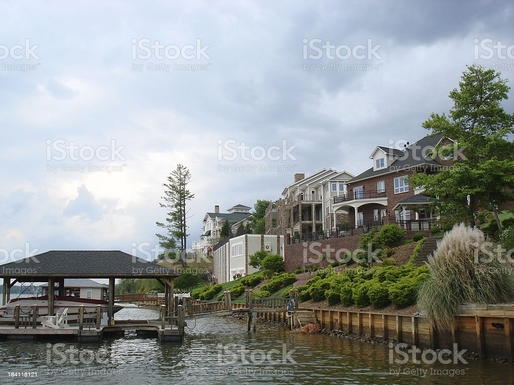Lake Living Series - Homes stock photo