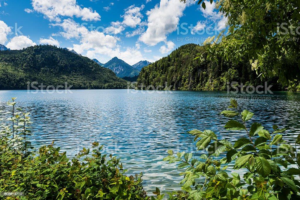 Lake located next to Hohenschwangau Castle stock photo