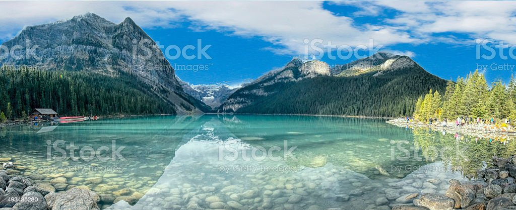 Lake Louis stock photo