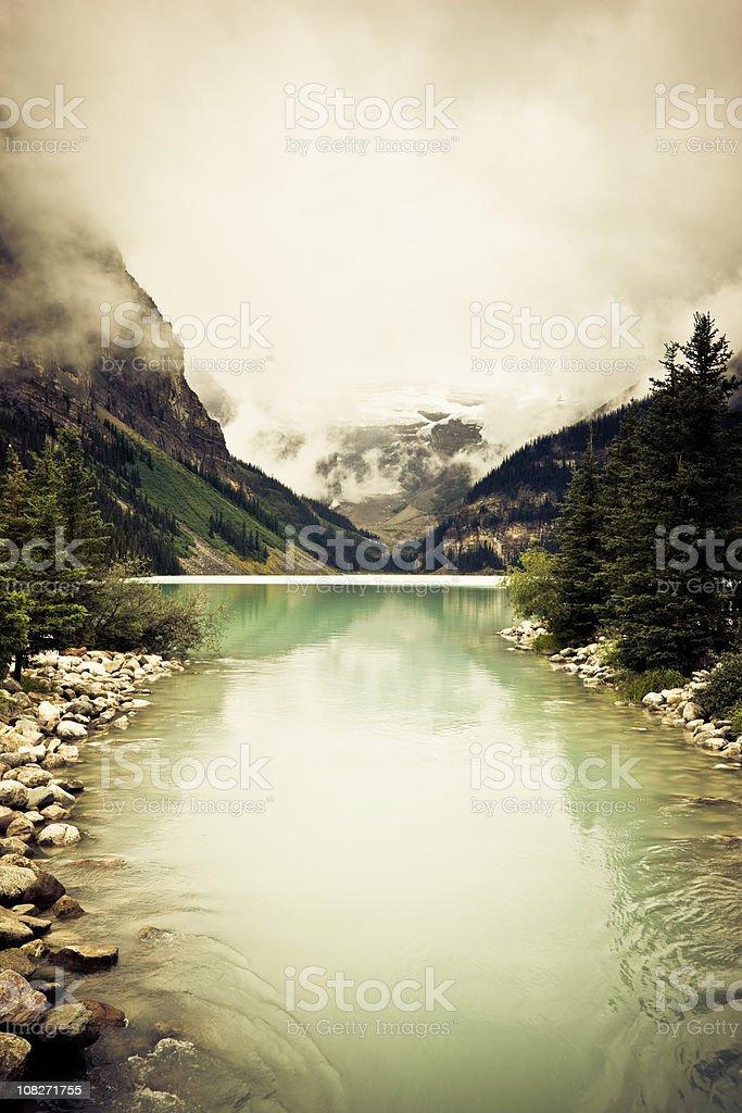 Lake Louise Banff Canadian Rocky Mountains royalty-free stock photo