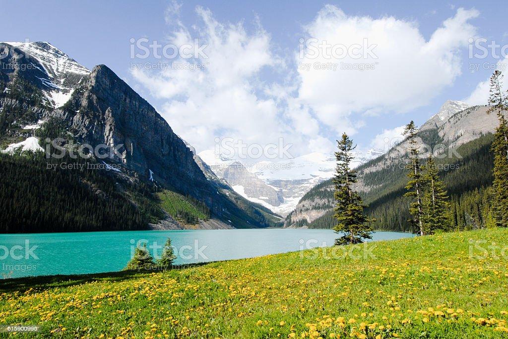 €€Lake Louise, Banff National Park, Canadian Rockies stock photo