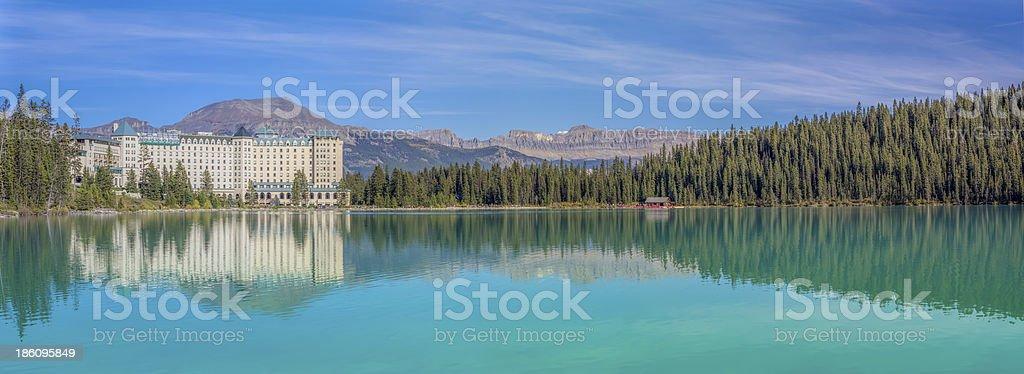 Lake Louise Banff National Park stock photo