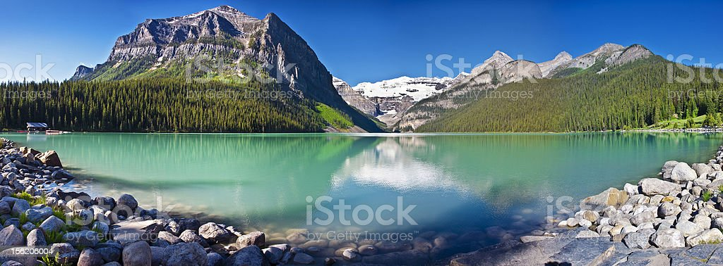 Lake Louise - Beautiful Alberta stock photo