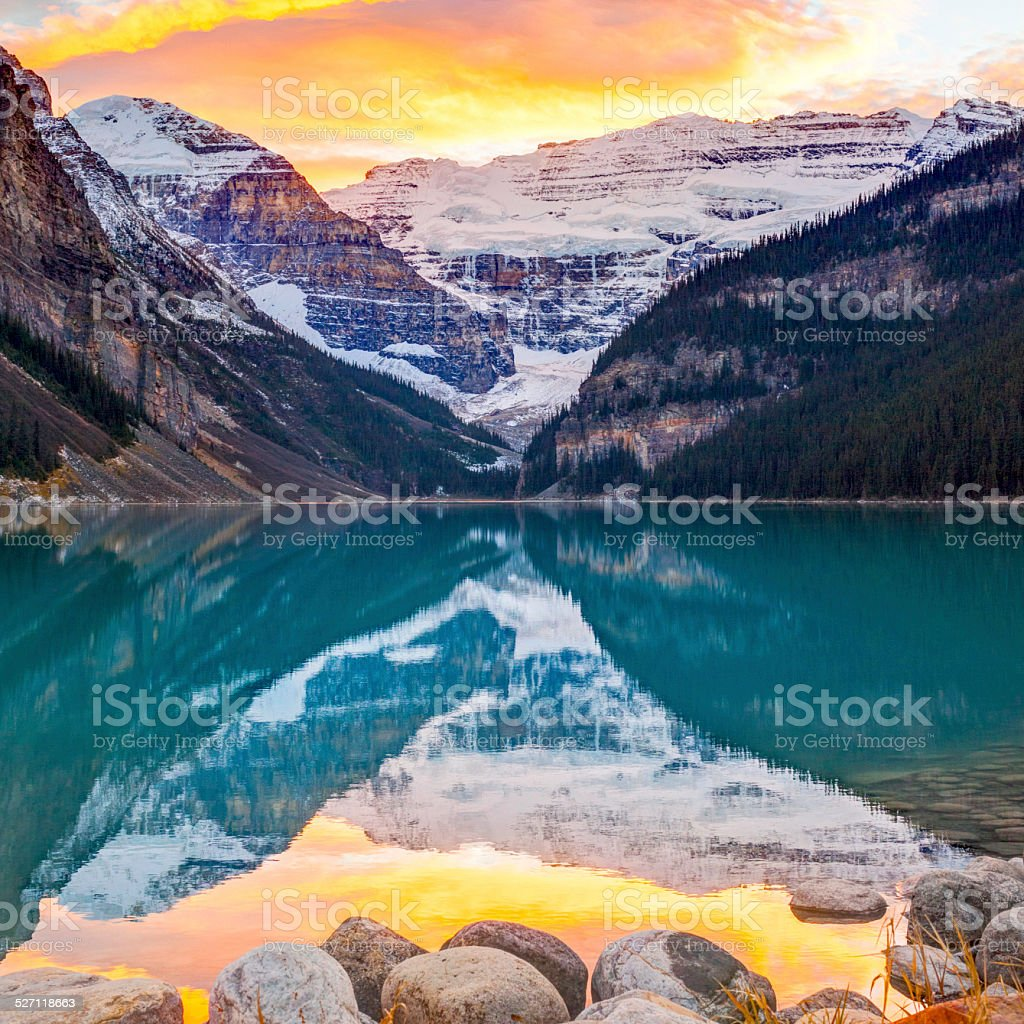 Lake Louise, Canada stock photo