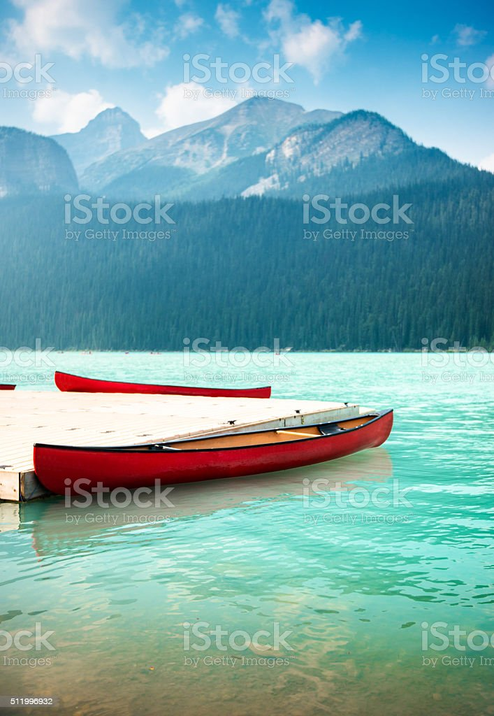 Lake Louise in Banff National Park - Canada stock photo