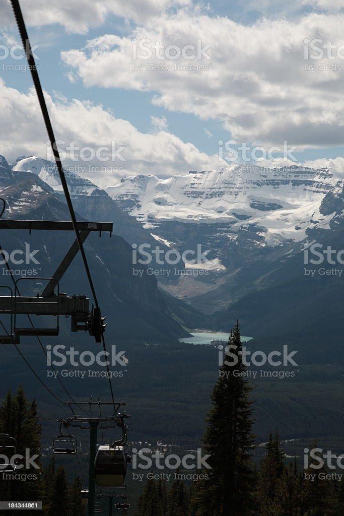 Lake Louise in Canadian Rockies stock photo
