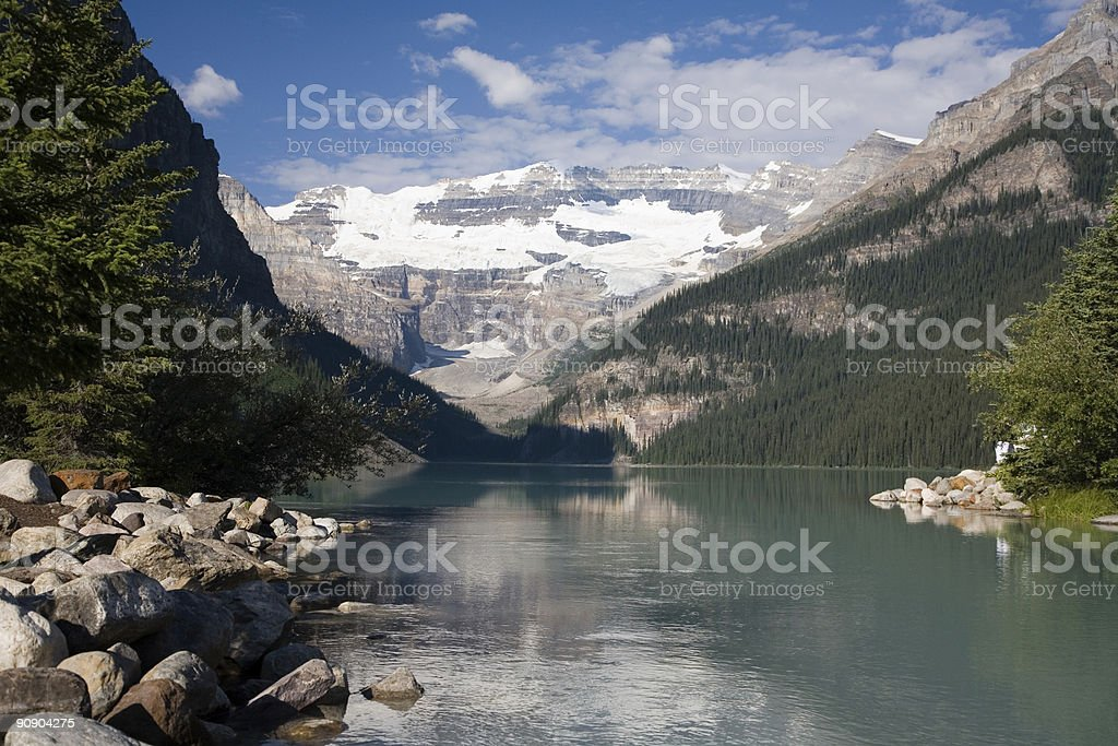 Lake Louise in the Candian Rockies stock photo