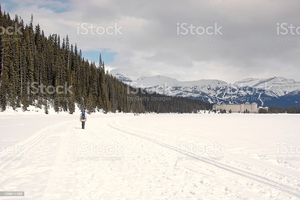 Lake Louise in winter stock photo