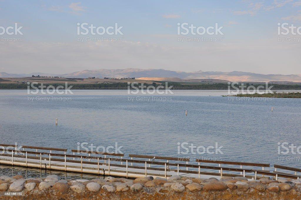 Lake Lowell Dock stock photo