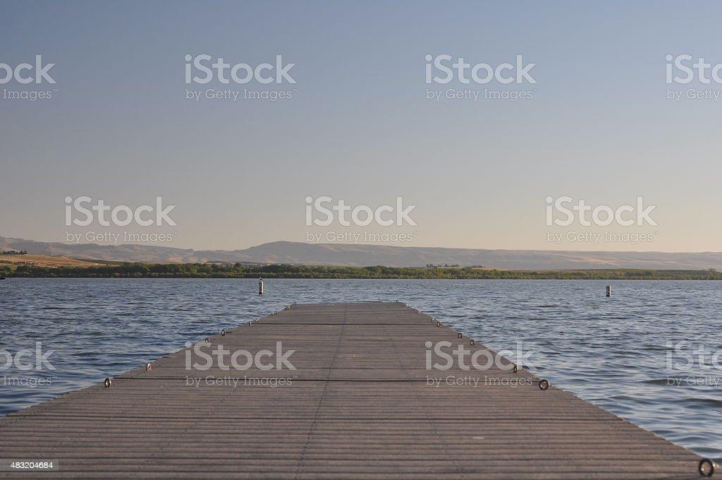 Lake Lowell Pier stock photo