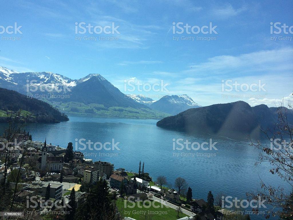 Lake Lucerne stock photo