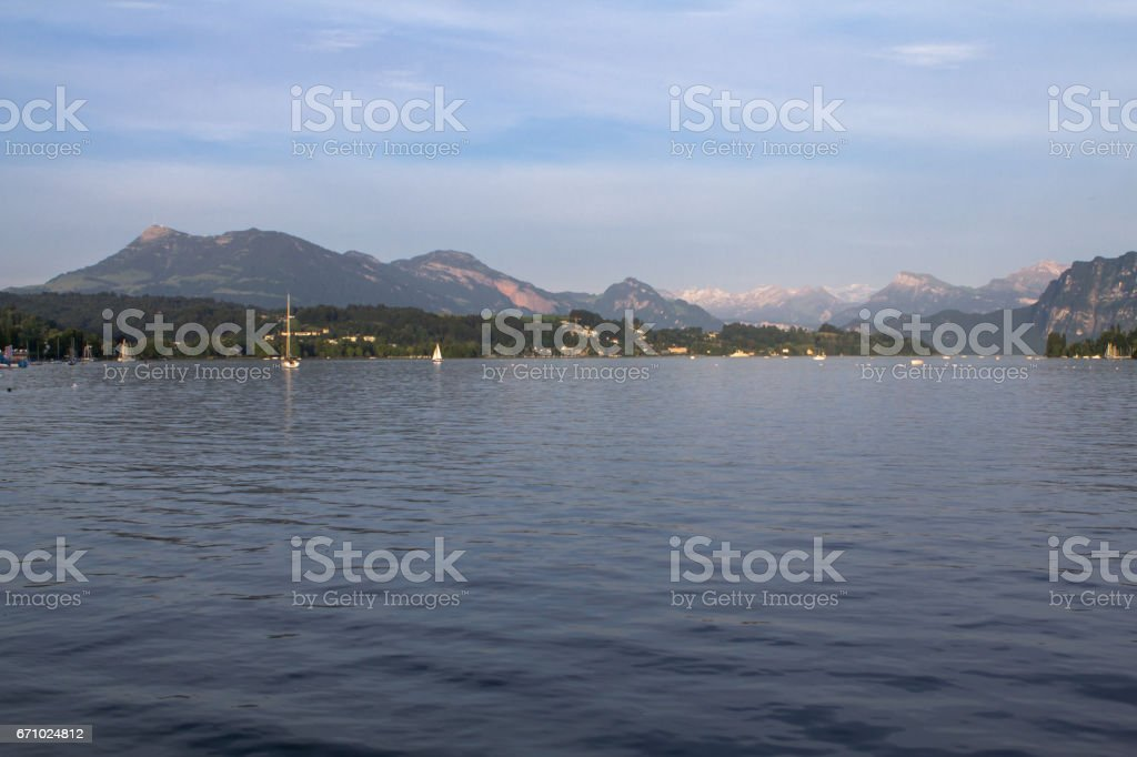 Lake Lucerne, Switzerland stock photo
