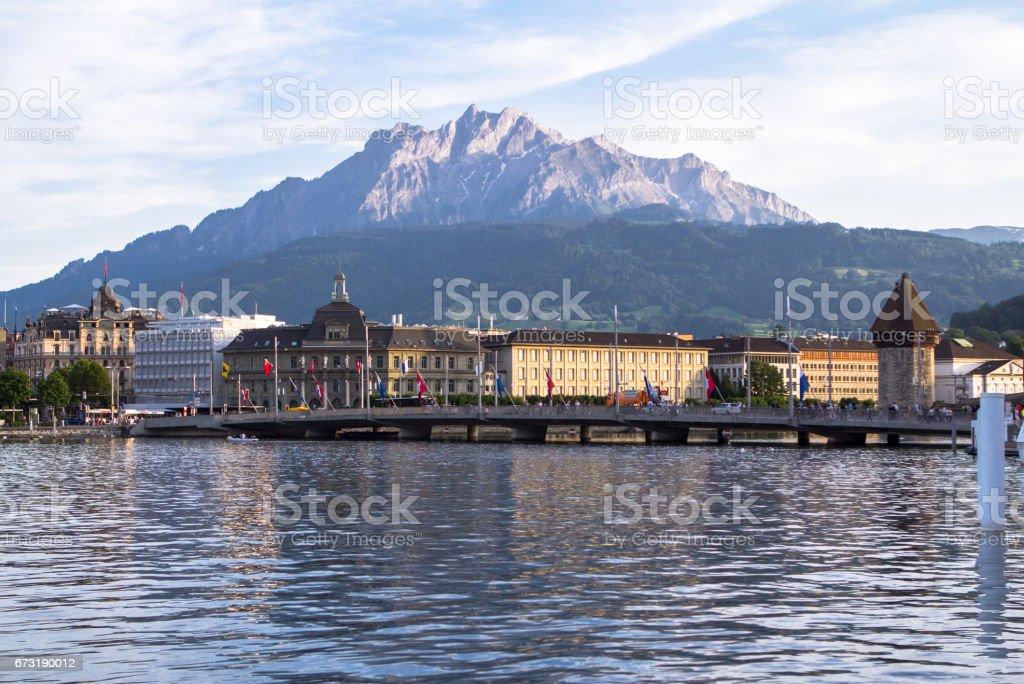 Lake Lucerne, Switzerland stock photo