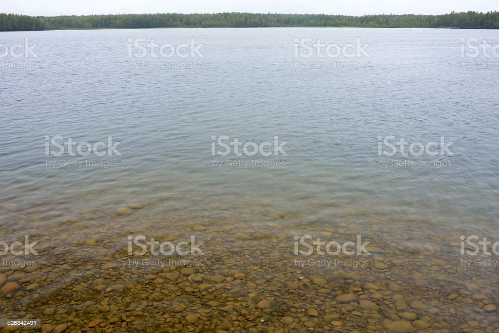 Lake Lucille in Wasilla stock photo