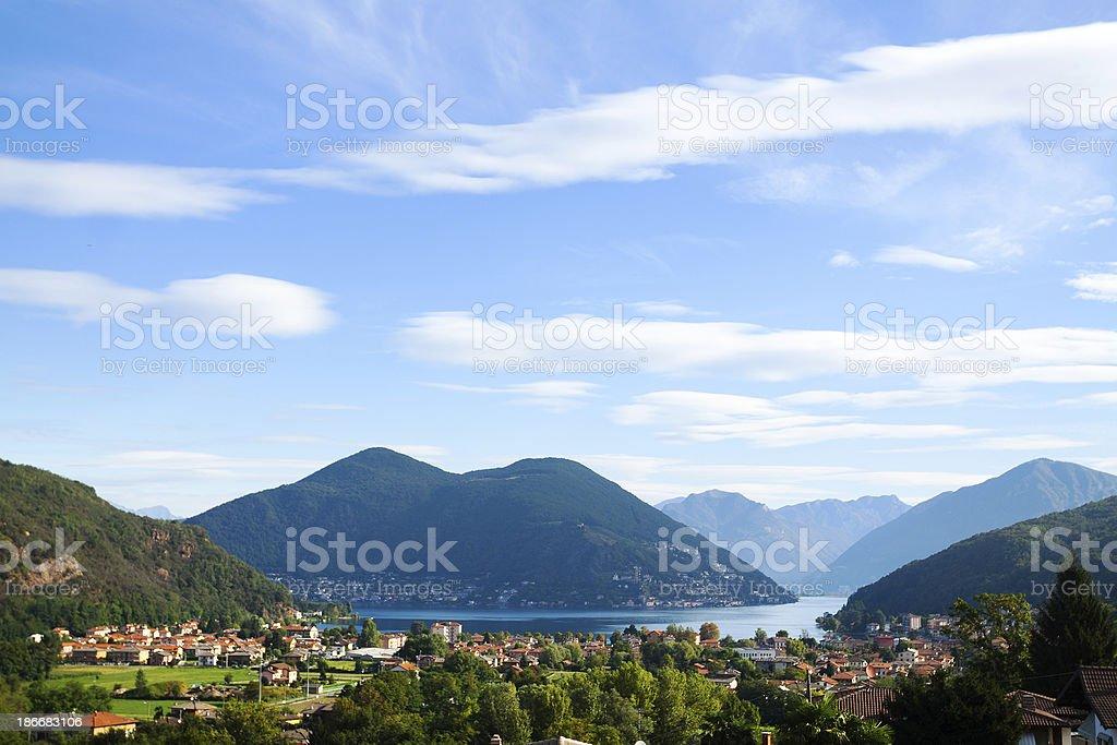 Lake Lugano royalty-free stock photo