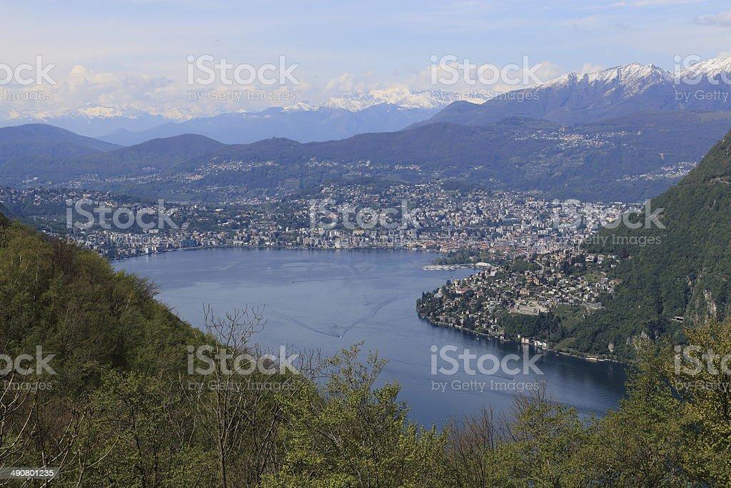 Lake Lugano stock photo