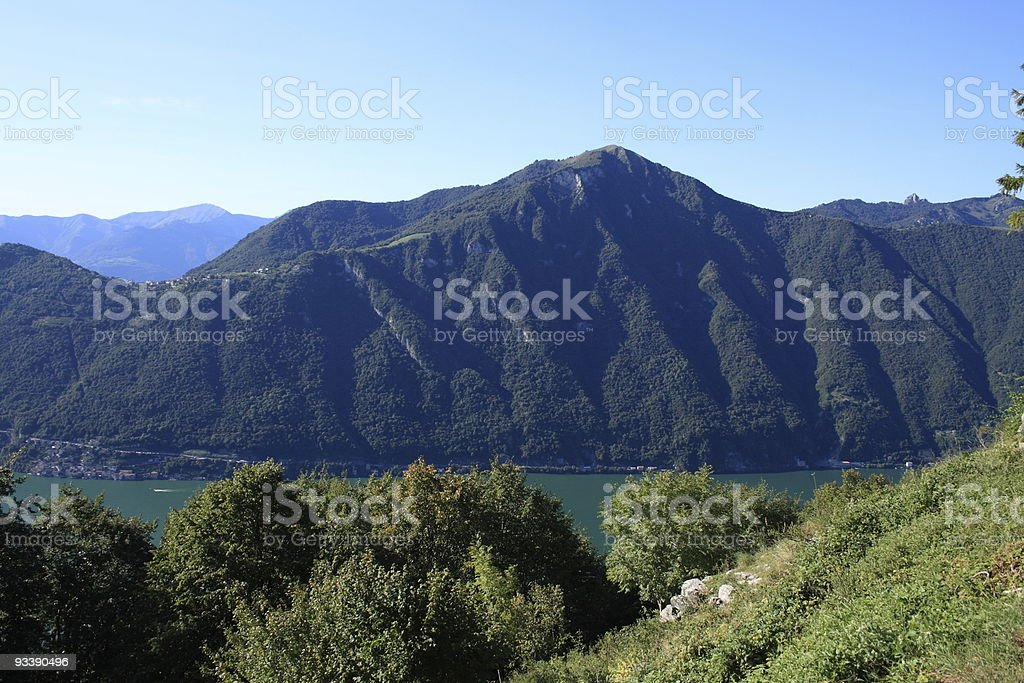Lake Lugano stock photo