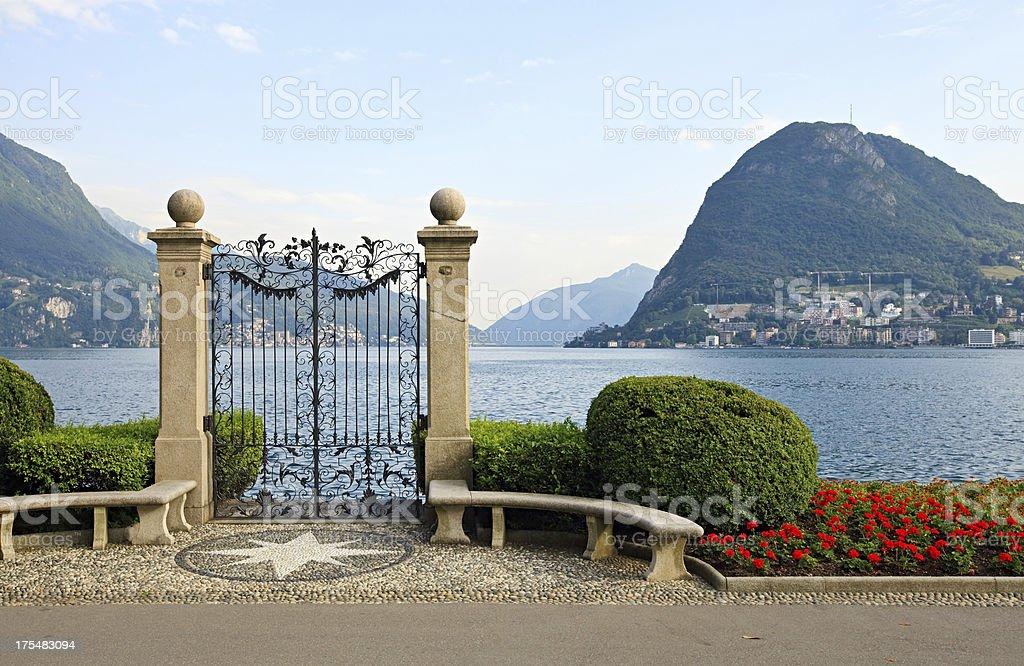Lake Lugano, Switzerland royalty-free stock photo
