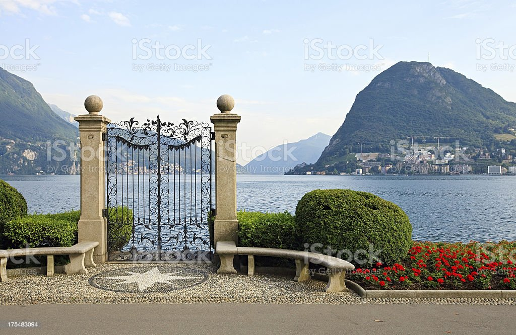 Lake Lugano, Switzerland stock photo