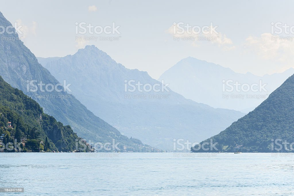 Lake Lugano Switzerland stock photo