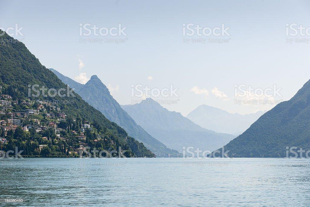 Lake Lugano Switzerland royalty-free stock photo