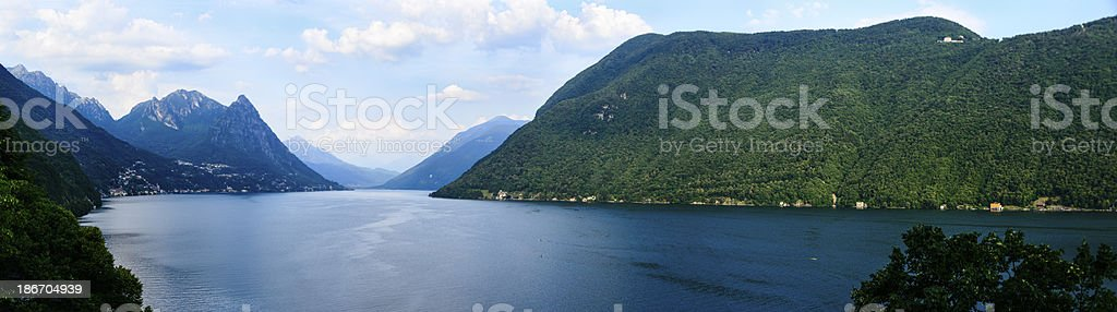 Lake Lugano, Switzerland -XXXL royalty-free stock photo