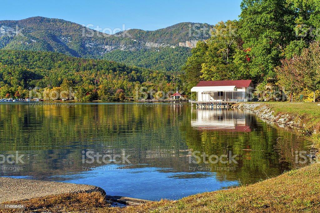 Lake Lure, Chimney Rock Park, North Carolina, USA royalty-free stock photo