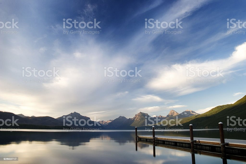 Lake Macdonald - Evening Light stock photo