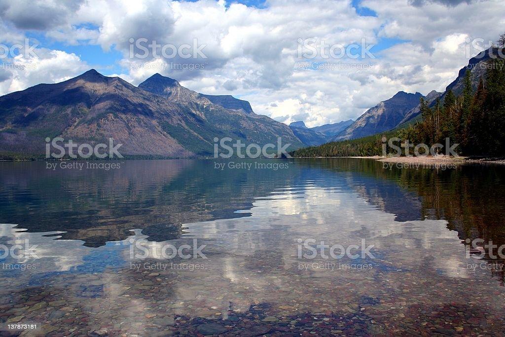 Lake Macdonald, Glacier National Park stock photo